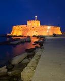 νύχτα Άγιος Nicholas οχυρών Στοκ Εικόνες