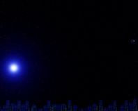 νύχτα έναστρη Στοκ Φωτογραφίες