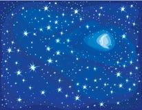 νύχτα έναστρη διανυσματική απεικόνιση