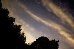νύχτα έναστρη Στοκ Εικόνες