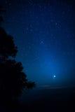 νύχτα έναστρη Στοκ εικόνες με δικαίωμα ελεύθερης χρήσης