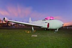 νύχτα αεροπλάνων στοκ εικόνα με δικαίωμα ελεύθερης χρήσης