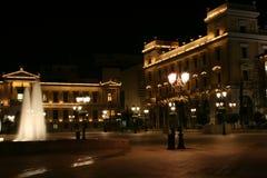 νύχτα Αθηνάς Στοκ Φωτογραφίες