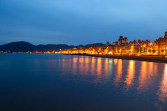 νύχτα ακτών Στοκ φωτογραφία με δικαίωμα ελεύθερης χρήσης