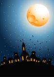 νύχτα αποκριών διανυσματική απεικόνιση