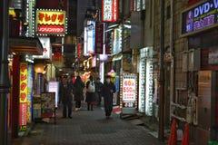 Νύχτα αλεών του Τόκιο Ιαπωνία Στοκ Εικόνα