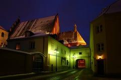 Νύχτα Βαρσοβία Στοκ Εικόνες