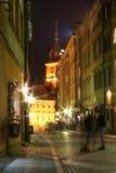 νύχτα Βαρσοβία Στοκ Φωτογραφίες