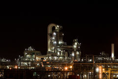 νύχτα βιομηχανίας Στοκ Φωτογραφίες