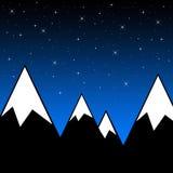 Νύχτα βουνών Στοκ Φωτογραφίες
