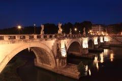 νύχτα γεφυρών του Angelo sant Στοκ Εικόνες