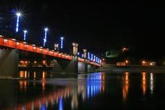 νύχτα γεφυρών Στοκ Εικόνες