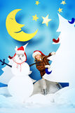 Νύχτα για τα Χριστούγεννα Στοκ Φωτογραφίες