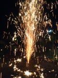 Νύχτα εγκαυμάτων πυρκαγιάς Στοκ Εικόνες