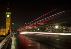 νύχτα επίσης Γουέστμινστερ Στοκ Φωτογραφία