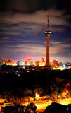νύχτα ημέρας του Πεκίνου Στοκ Φωτογραφία