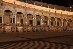 Νύχτα διάσημο Plaza de Espana Στοκ Φωτογραφίες