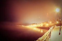 Νύχτα Ιρκούτσκ στοκ φωτογραφίες με δικαίωμα ελεύθερης χρήσης