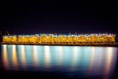 Νύχτα Ιρκούτσκ Στοκ εικόνα με δικαίωμα ελεύθερης χρήσης