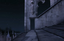 νύχτα κάστρων παλαιά Στοκ Εικόνα