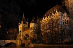 νύχτα κάστρων της Βουδαπέστης Στοκ Εικόνες