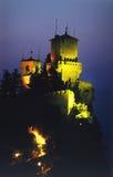 νύχτα κάστρων Στοκ φωτογραφίες με δικαίωμα ελεύθερης χρήσης