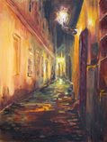 νύχτα κίτρινη Στοκ Φωτογραφίες