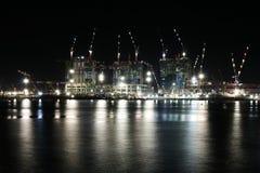 νύχτα κατασκευής Στοκ Φωτογραφία