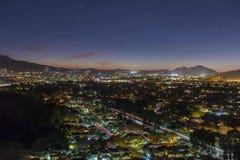 Νύχτα Καλιφόρνιας Thousand Oaks Στοκ φωτογραφία με δικαίωμα ελεύθερης χρήσης