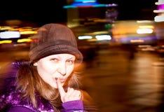 νύχτα κινήσεων πόλεων Στοκ Εικόνες