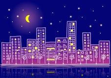 νύχτα κλίσεων κινούμενων σ Στοκ Φωτογραφία