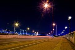 Νύχτα κυκλοφορίας Guangzhou Στοκ εικόνα με δικαίωμα ελεύθερης χρήσης