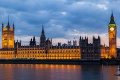 Νύχτα Λονδίνο Big Ben Στοκ Εικόνες