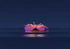 νύχτα λουλουδιών Στοκ εικόνες με δικαίωμα ελεύθερης χρήσης