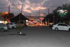 Νύχτα μιας ημέρας στο chiangmai Sankampang στοκ εικόνες