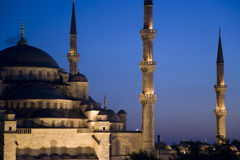 νύχτα μουσουλμανικών τεμ Στοκ φωτογραφία με δικαίωμα ελεύθερης χρήσης