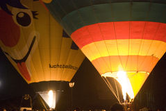 νύχτα μπαλονιών Στοκ Εικόνες