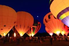 νύχτα μπαλονιών Στοκ φωτογραφία με δικαίωμα ελεύθερης χρήσης