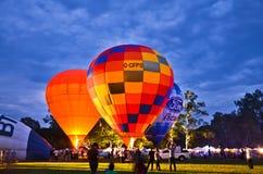 Νύχτα μπαλονιών Στοκ Εικόνα