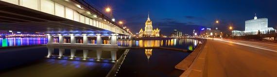 Νύχτα Μόσχα. Στοκ Εικόνες