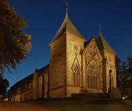νύχτα Νορβηγία Stavanger καθεδρι&ka Στοκ Εικόνα