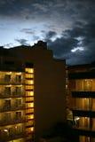 νύχτα ξενοδοχείων Στοκ φωτογραφία με δικαίωμα ελεύθερης χρήσης