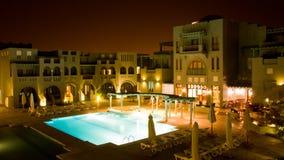 νύχτα ξενοδοχείων gouna EL Στοκ Εικόνες