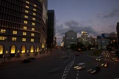 νύχτα Οζάκα Στοκ Εικόνες