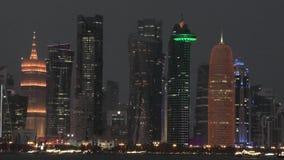 Νύχτα οριζόντων Doha απόθεμα βίντεο