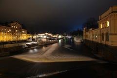 Νύχτα Ουψάλα Στοκ Εικόνες