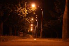 Νύχτα οδών Στοκ εικόνα με δικαίωμα ελεύθερης χρήσης