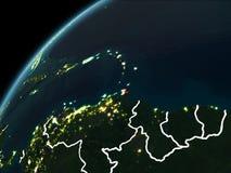 Νύχτα πέρα από τις Καραϊβικές Θάλασσες ελεύθερη απεικόνιση δικαιώματος