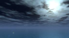 Ήρεμη νύχτα φεγγαριών διανυσματική απεικόνιση