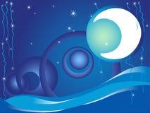νύχτα παραμυθιού Διανυσματική απεικόνιση